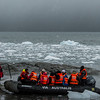 PB279 Trekkers from Via Australis Cruise Ship going Ashore, Almirantazgo Bay, Patagonia, Chile
