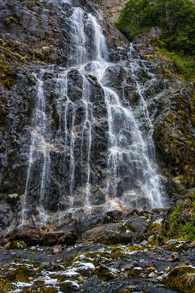 WAb642 Glacial Waterfall, Darwin Range, Almirantazgo Bay, Patagonia, Chile