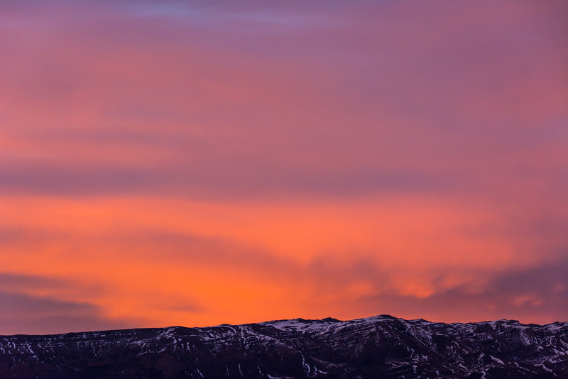 WAb1700 Sunrise, Andes Mtns, La Anita Valley, El Calafate, Argentina