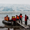 PB276 Trekkers from Via Australis Cruise Ship going Ashore, Almirantazgo Bay, Patagonia, Chile