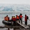 PB276 Trekkers from Via Australis Cruise Ship going Ashore, Almirantazgo Bay, Patagonia, Chile