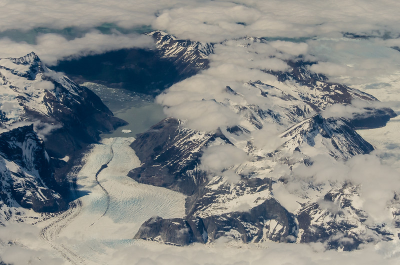 WAb2447 Glacier Aerial, Torres del Paine NP, Southern Patagonian Ice Field, Chile
