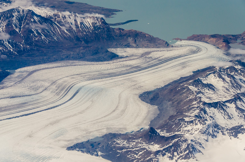 WAb2471 Tidewater Glacier Aerial, Glacier Aerial, Southern Patagonian Ice Field, Chile
