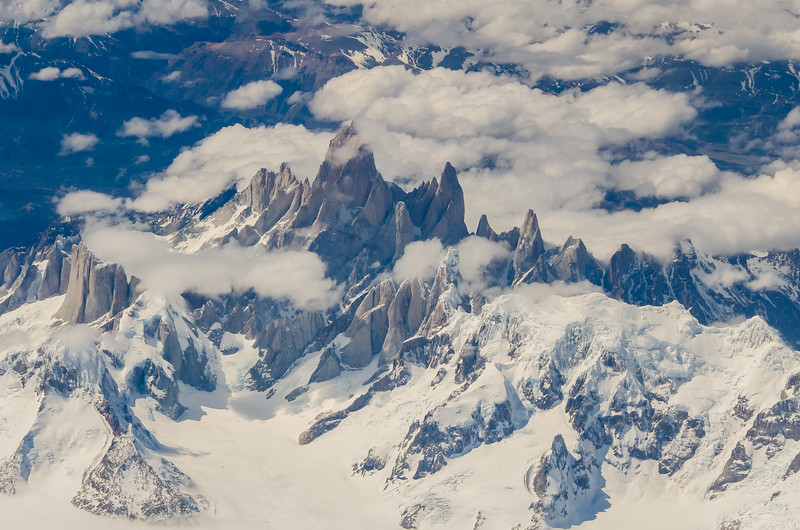 WAb2478 Paine Massif Aerial, Torres del Paine NP, Southern Patagonian Ice Field, Chile