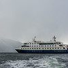 WAb591  Via Australis Cruise Ship Zodiacs, Almirantazgo Bay, Darwin Range, Patagonia, Chile