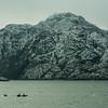 WAb562  Via Australis Cruise Ship Zodiacs, Almirantazgo Bay, Darwin Range, Patagonia, Chile