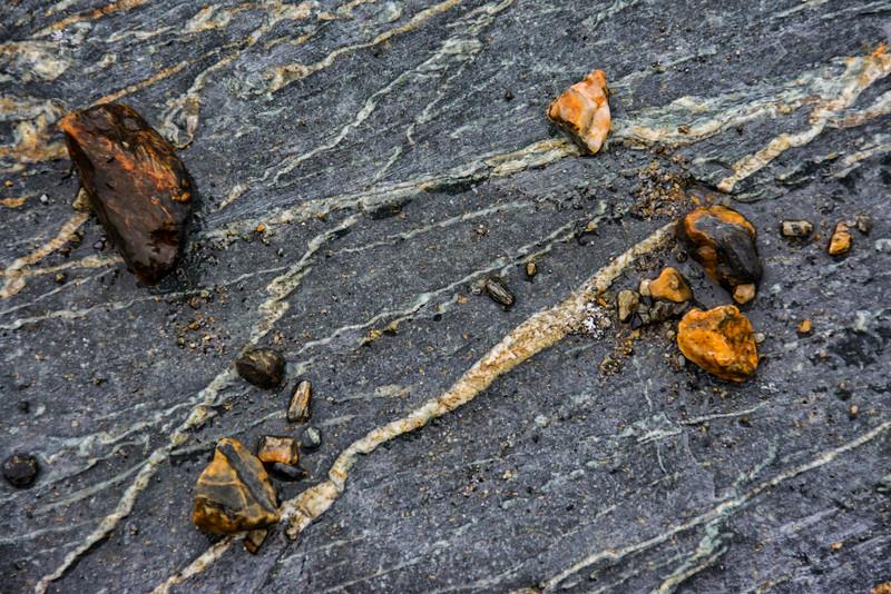 WAb765 Beach Rocks, Almirantazgo Bay, Darwin Range, Patagonia, Chile