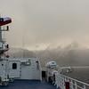 WAb526  Via Australis Cruise Ship, Almirantazgo Bay, Darwin Range, Patagonia, Chile