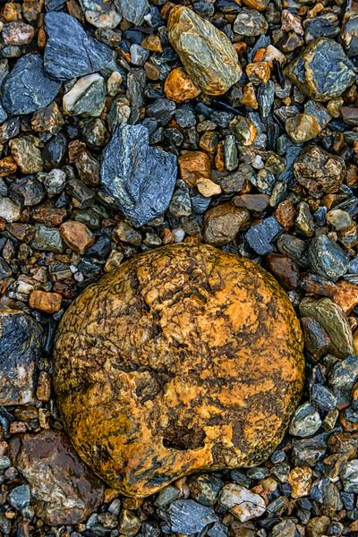 WAb721 Beach Rocks, Almirantazgo Bay, Darwin Range, Patagonia, Chile