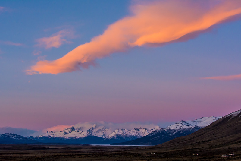 WAb992 Sunrise, El Calafate, La Anita Valley, Andes Mtns, Argentina