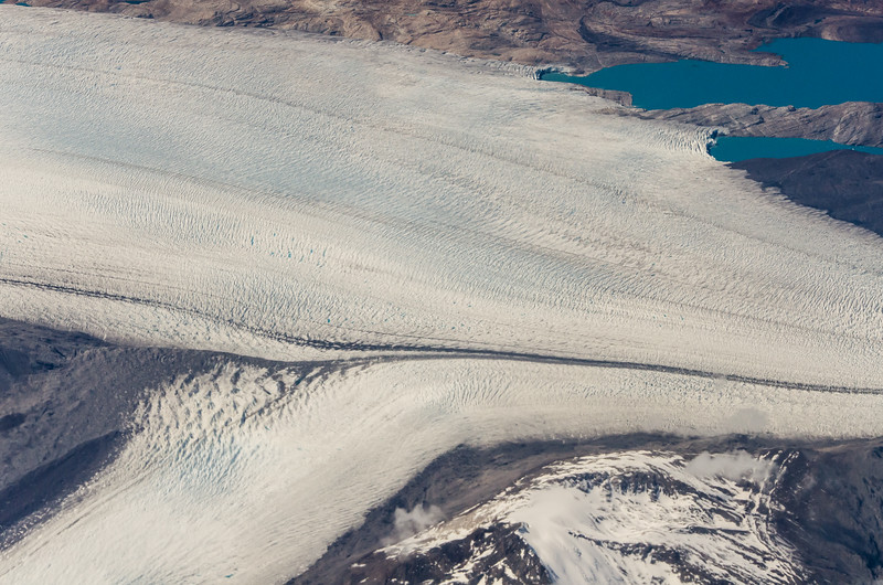 WAb2461 Bruggen Glacier Aerial, Tidewater Glacier, Southern Patagonian Ice Field, Chile