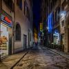 WBb446 - City Street at Night, Cortona, Italy
