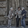 PB109 - The Conversation, Piazza Salimbeni, Siena, Italy