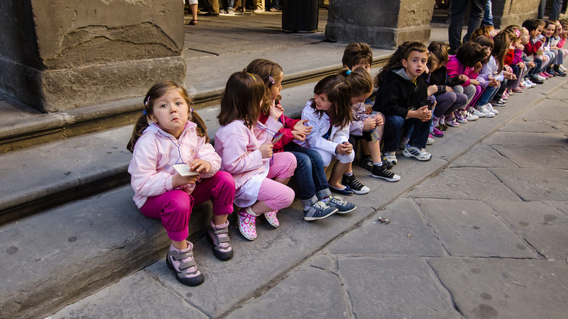 PB81 - School Kids, Florence, Italy