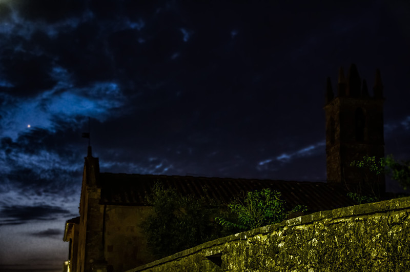 WAb1052 - Monteriggioni by Moonlight, Tuscany, Italy
