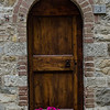 WBb585 - Door with Flowers, Castellina in Chianti, Italy