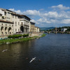 WBb117 - Rowers on the Arno River, Florence, Italy