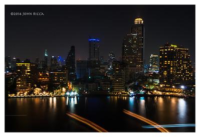 Chao Phraya River, Bangkok, At Night