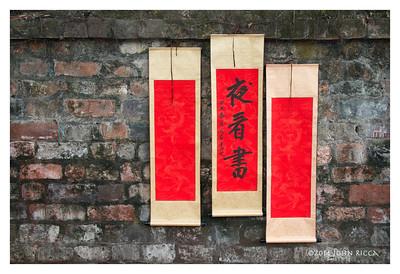 Hanoi, Vietnam, Writer Sign