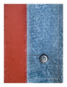 Abstract in Red & Blue