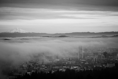Fog Blanket Over Portland