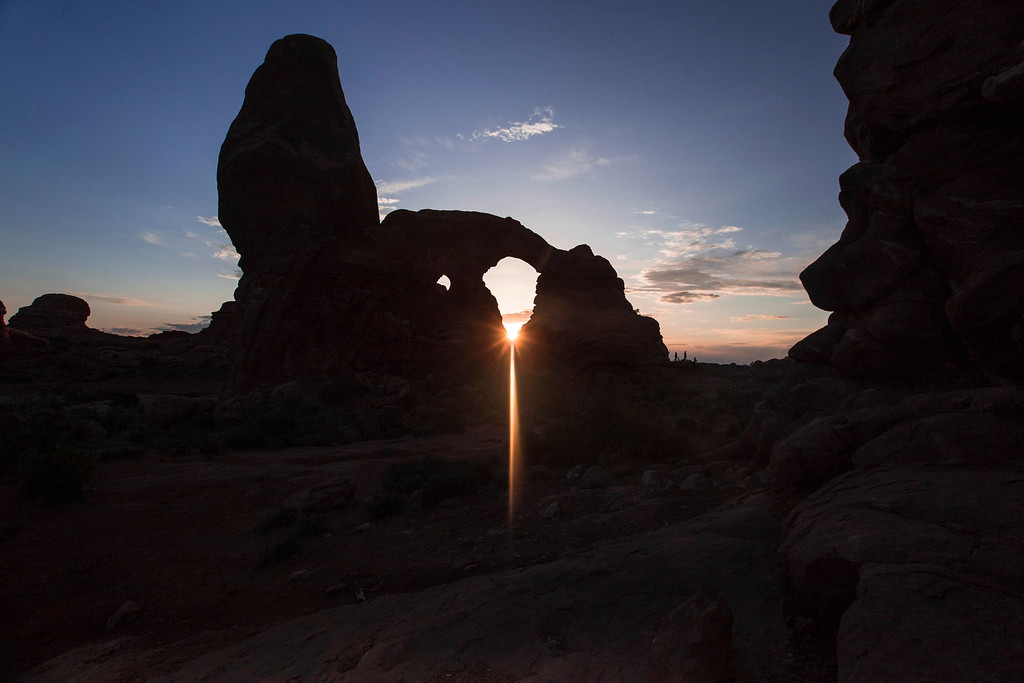 Sunset, Turret Arch, Arches National Park, Utah