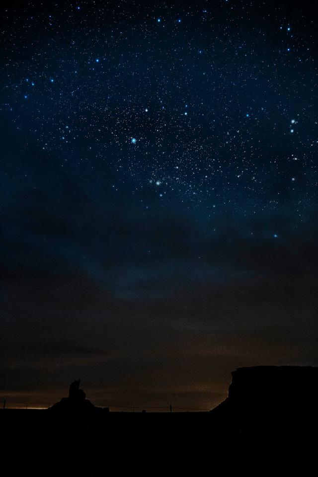 Stars over Monument Valley, Utah