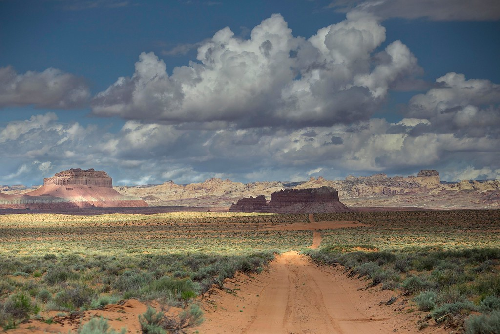 Approaching Capitol Reef National Park, Utah
