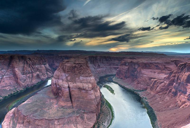 Sunset, Horseshoe Bend, Colorado River, Arizona
