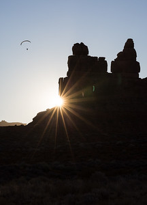 """Paragliding at Sunset in the Bears Ears National Monument"""