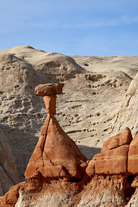 """Toadstool and Cliffs""  One of my favorites amongst the toadstool hoodoos of the Paria Rimrocks. Taken in the Grand Staircase-Escalante National Monument, Utah, USA."
