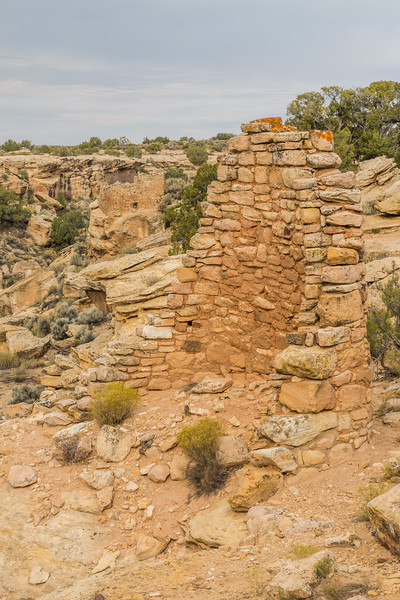 A portion of Stronghold House. Taken on the Little Ruin Trail in Hovenweep National Monument, Utah, USA.
