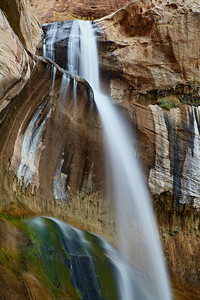 """Falls At the End of the Canyon""  Lower Calf Creek Falls in the Grand Staircase-Escalante National Monument, Utah, USA."