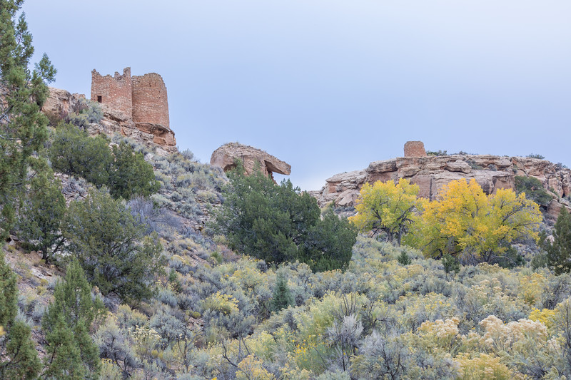 A group of ruins built by the ancestral Puebloans.  Taken on the Little Ruin Trail in Hovenweep National Monument, Utah, USA.