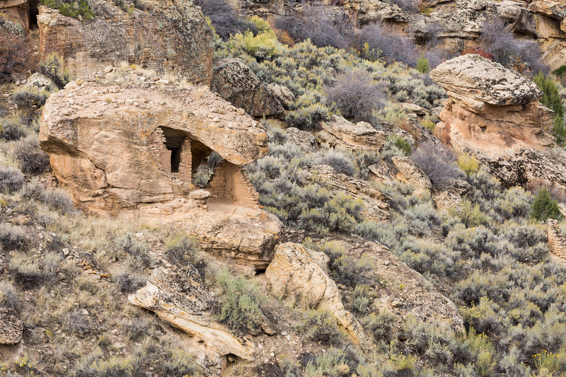 Eroded Boulder House. Taken on the Little Ruin Trail in Hovenweep National Monument, Utah, USA.