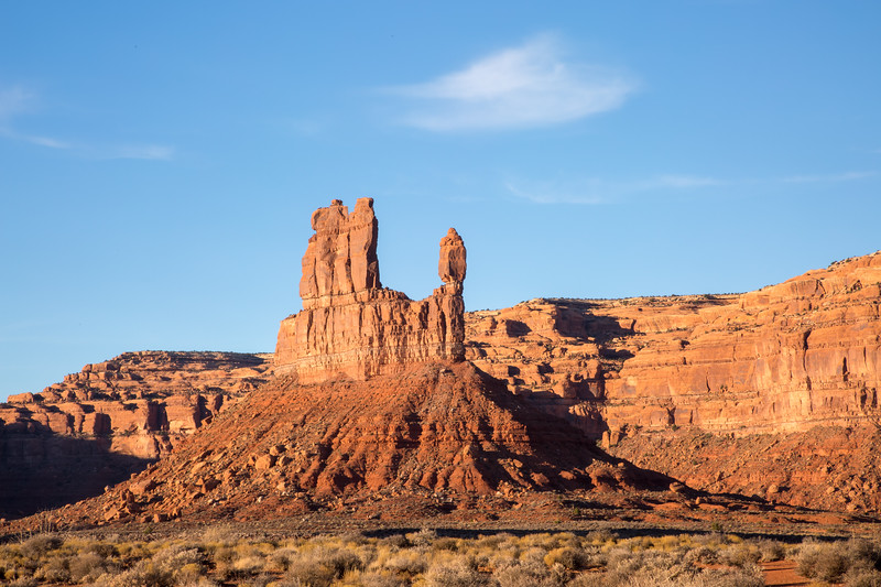 The rock formation known as Balanced Rock. Taken in Valley of the Gods, Bears Ears National Monument, Utah, USA.