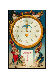 Happy New Year Greetings - Vintage image
