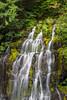 Panther Creek Falls. Taken in the Gifford Pinchot National Forest, Washington, USA.