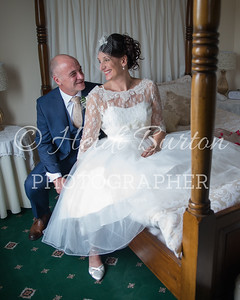 The marriage of Tracey and Adrian at the Battleborough Grange, Somerset.