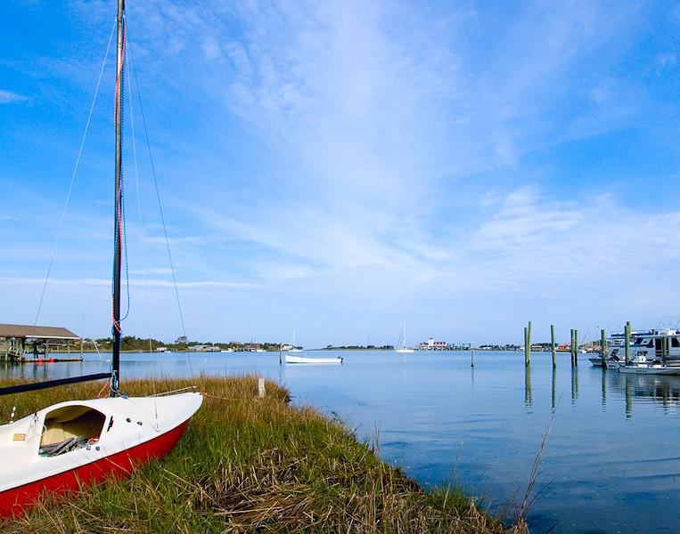 WBa380 - Silver Lake Boat, Ocracoke Is, NC