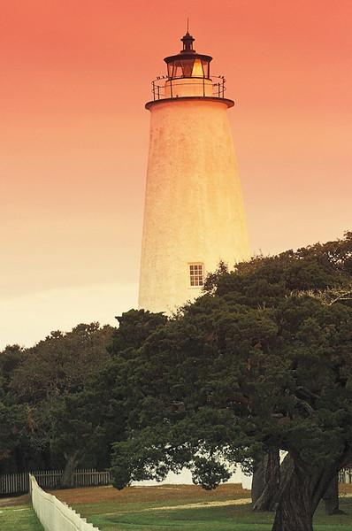 WAa18 - Ocracoke Lighthouse Sunset, Ocracoke Is, NC