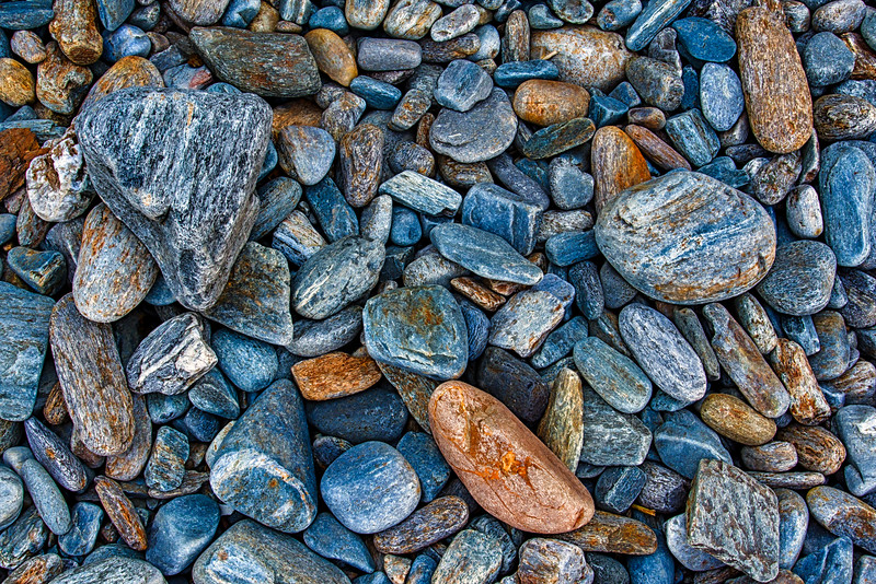 WAa1787 Granite Rocks, Portland Head Light Beach, Cape Elizabeth, ME