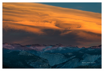 Lenticular Cloud Over The Sierras