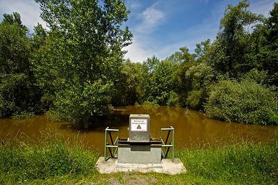 Braunes Hochwasser am Bellenkopf  Brown flood on Bellenkopf  - mehr dazu im Blog: Der braune Rhein