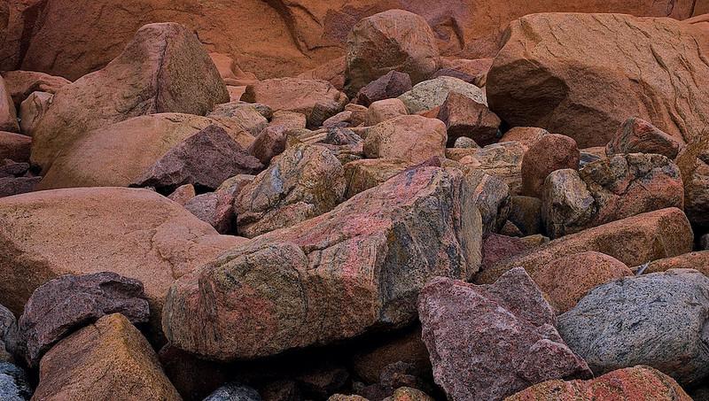 Bunte Felsen - Smögen, Bohuslän - Westküste Schweden /<br /> Multicolored rock - Smögen, Bohuslän - Westcoast Sweden