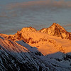Großglockner (3.798 m) im letzten Licht - Kals, Osttirol, Österreich<br /> Nationalpark Hohe Tauern