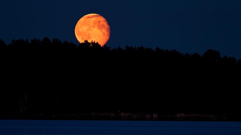 Moonrise in Småland - Oknö, Sweden