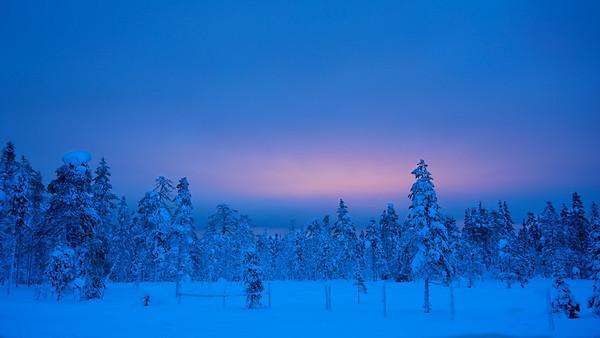 Dämmerung bei Vittjåkk - Arvidsjaur,  Lappland, Schweden  Twilight near Vittjåkk - Arvidsjaur,  Lapland, Sweden - mehr dazu im Blog: Winter in Lappland
