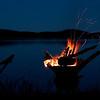 """""""Blaue Stunde"""" am Lagerfeuer in Schweden <br /> """"Blue hour"""" at a campfire in Sweden <br /> mehr dazu im Blog: <a href=""""http://arnohelfer.wordpress.com/2011/04/06/reiseziele-in-schweden/"""">Reiseziele in Schweden</a>"""
