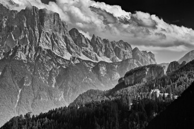 Dolomiten, Südtirol, Italien  Dolomites, South Tyrol, Italy - mehr dazu im Blog: Dolomiten in Schwarzweiß